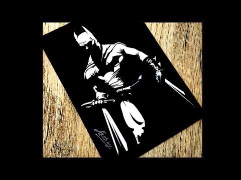 8e38c8c30b5c4 ... Lord Ganesha - Stencil art - Art Maker Akshay. How To Draw Batman    Batman Silhouette Drawing   DC Comics