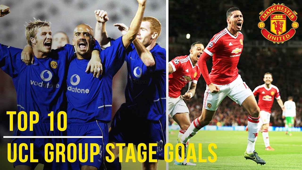 Top 10 UEFA Champions League Group Stage Goals | Manchester United