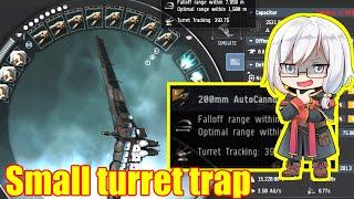 EVE Online - Small turret trap [Tornado solo PvP]