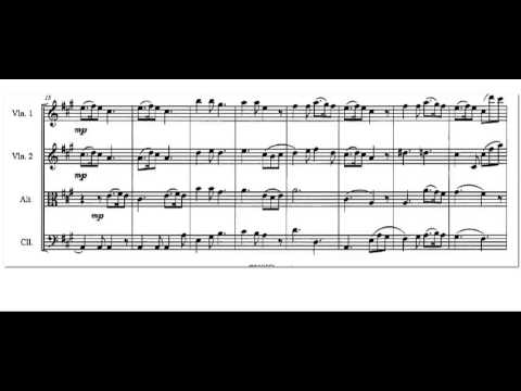 Silent Night sheet music for strings