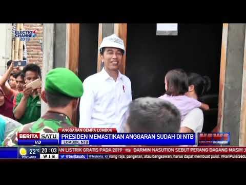 Presiden Jokowi Pastikan Anggaran Rehabilitasi Gempa Lombok Rp 5,1 Triliun