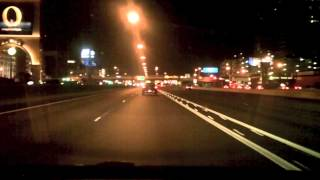 driving the freeways of las vegas nv night to day
