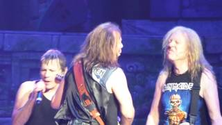 Iron Maiden at American Airlines Center Dallas Texas 6/23/17 end of Wasted Years and finale