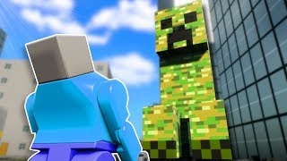CREEPER SURVIVAL! - Brick Rigs Multiplayer Gameplay - Lego Minecraft Survival Challenge