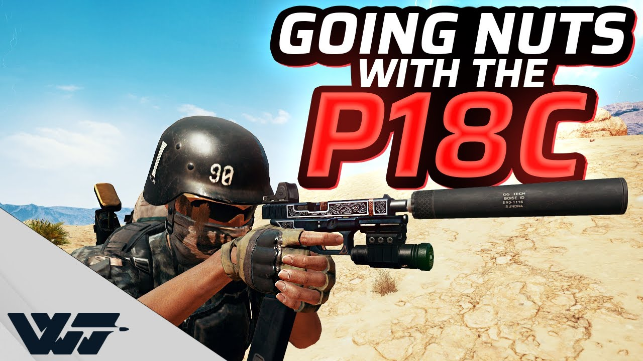 Download GOING NUTS WITH THE P18C AUTO PISTOL - It shreds! - PUBG