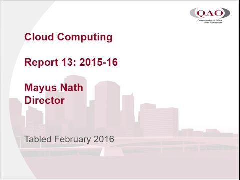 Report 13: 2015-16 Cloud computing audio presentation