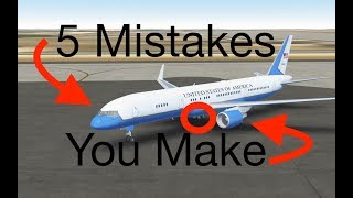 TOP 5 Mistakes YOU Make In Infinite Flight