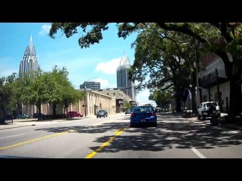 Road Trip #029 - US-90/98 East - Mobile, Alabama, Government Street, Bankhead Tunnel, Mobile Bay