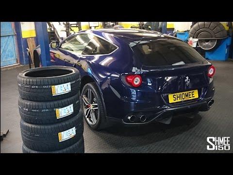 Preparing the Ferrari FF for Winter - Pirelli Sottozero Snow Tyres