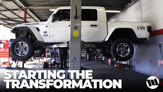Jeep Gladiator Truck WAYALIFE Build by EVO Manufacturing - Let the Transformation Begin