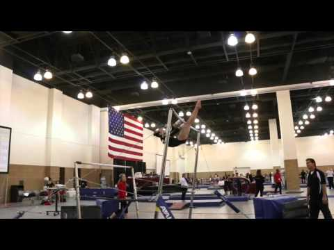 Olivia Roberts Bars Heart of Champion Wildfire Gymnast Level 7
