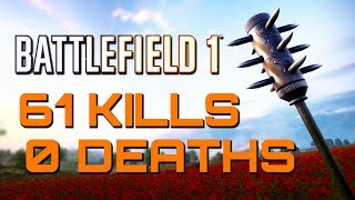 Battlefield 1: 61 Kills 0 Deaths - They Shall Not Pass DLC (PS4 PRO Multiplayer Gameplay)