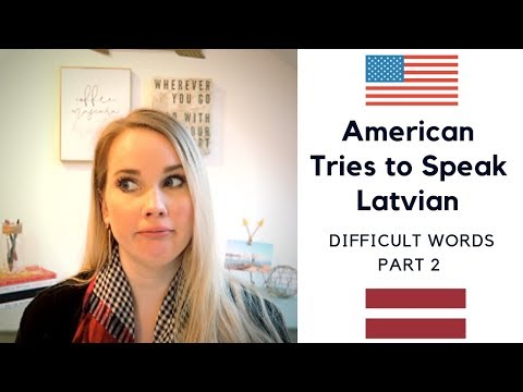 American Girl Tries to Speak Latvian | Difficult Words - Part 2