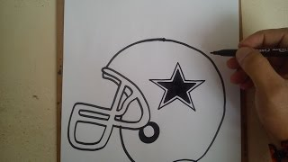Como dibujar el casco de los vaqueros de dallas / HOW TO DRAW HELMET COWBOYS