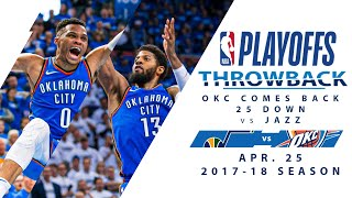 Westbrook & George Leads HUGE Comeback in 2018 WCQF G5 vs Jazz | Full Classic Game - 4.25.18