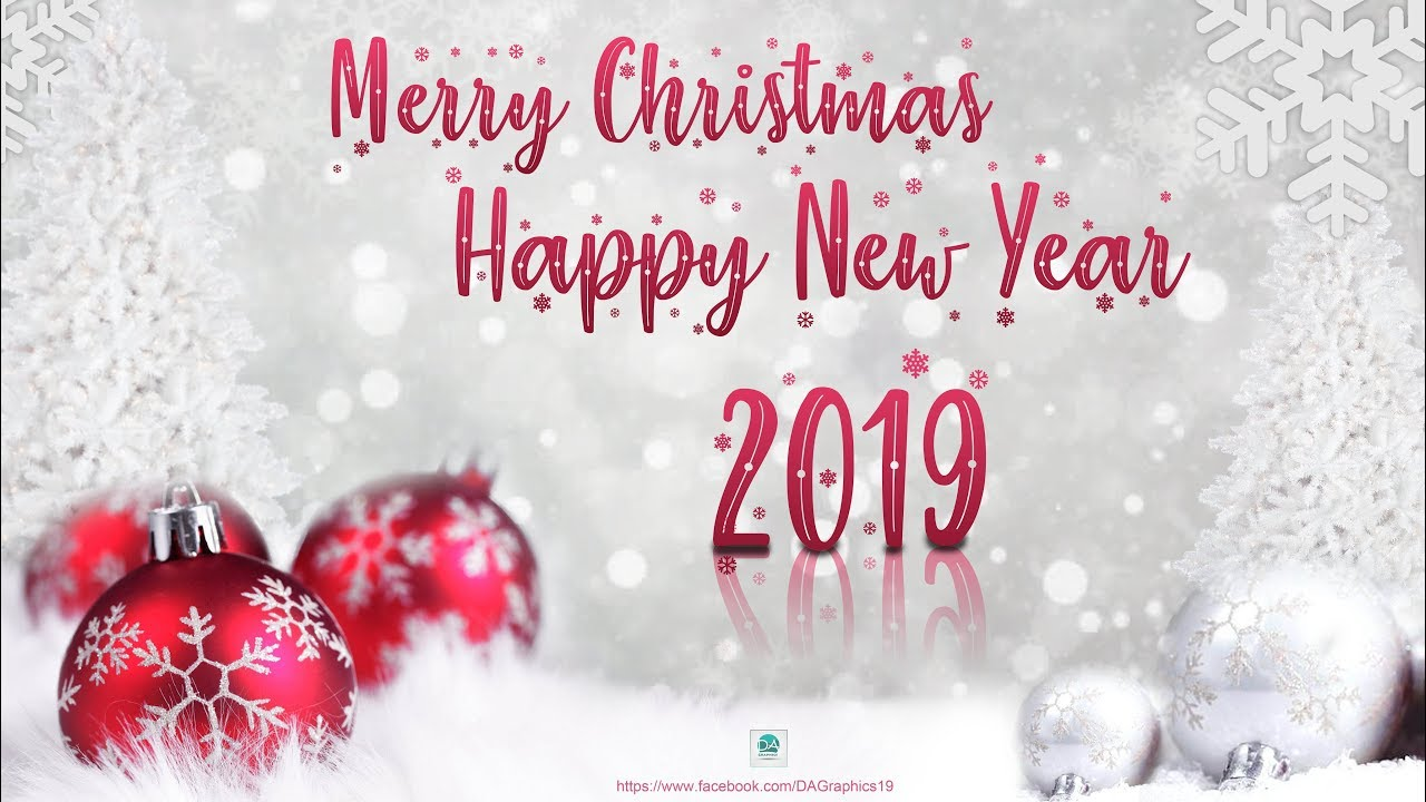 Merry Christmas and Happy New Year 2019-2020 Wallpaper/Poster Design photoshop tutorial