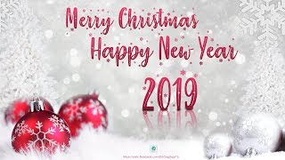 Merry Christmas and Happy New Year 2019 2020 Wallpaper Poster Design photoshop tutorial