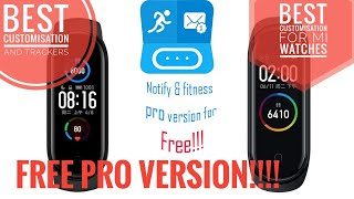 Notify and fitness PRO VERSION FREE for MI BAND 2 3 4 5 | best customization for Mi bands screenshot 2
