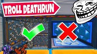 Ich versuche den *TROLL* Deathrun in Fortnite!