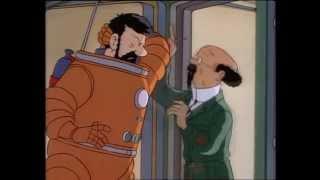 Tournesol fait le zouave - Tintin - Objectif Lune