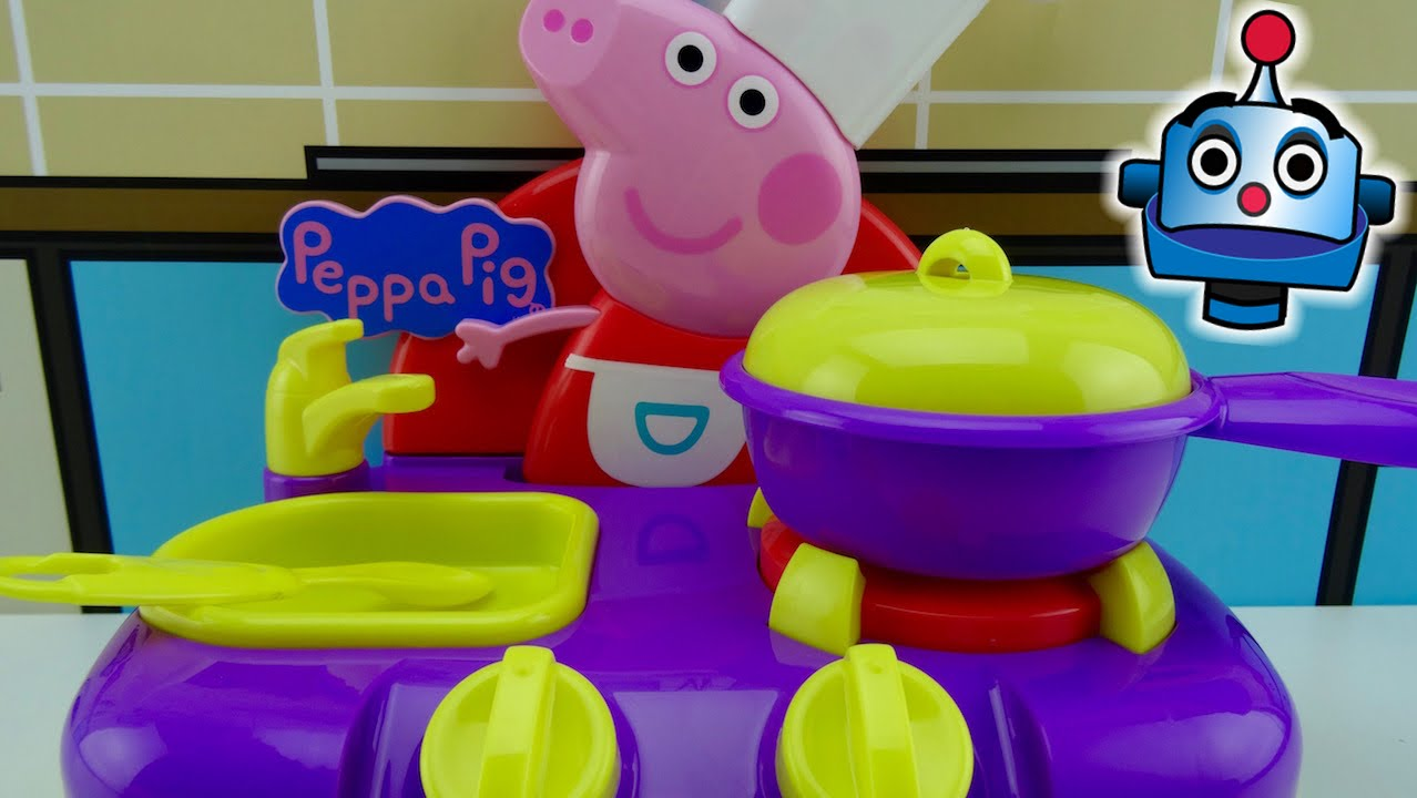 Cooking Set And Peppa's Sing Along Kitchen n0w8PkO