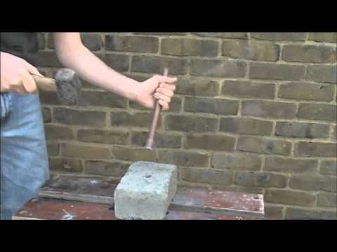 Making Holes Through Walls for Pipes and Cables - YouTube