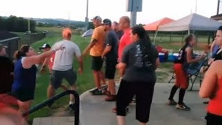 Caught on Camera: Parents get into brawl at softball game