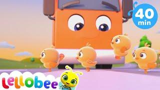5 Little Ducks V2 | How To Nursery Rhymes | Fun Learning with LittleBabyBum