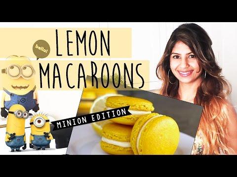 Lemon Macarons Recipe  Minion Edition  Almas