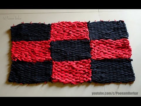 DIY - Door Mat from old leggings | Recycling old clothes | Step by step tutorial