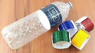 waste plastic bottle reuse idea for beautiful Wall decor with old bangles | best out of waste