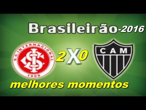 Internacional 2 x 0 Atlético MG Melhores Momentos   Brasileirão 2016