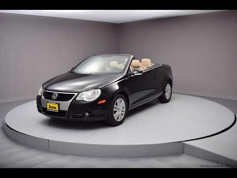 2008 Black Volkswagen Eos 2D Convertible #8V041819