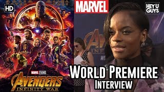 Letitia Wright (Shuri) on the wider world of Avengers Infinity War - World Premiere Interview