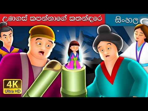 බම්බු කූඩුවේ සිංහල කථාව | Tale of Bamboo Cutter in Sinhala | Sinhala Cartoon | Sinhala Fairy Tales