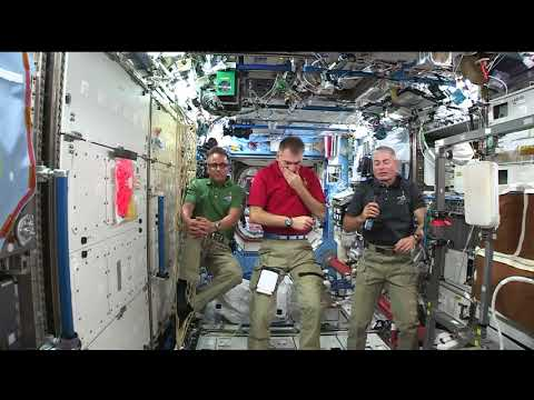 Space Station Crew Members Discuss Life in Space with the Media