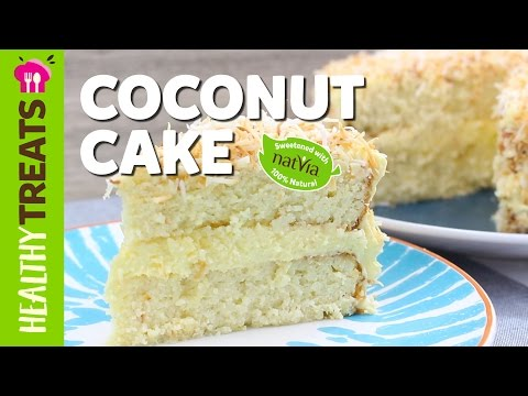 Healthy Sugar Free Coconut Cake Recipe Natvia's Healthy Treats & Dessert Recipes