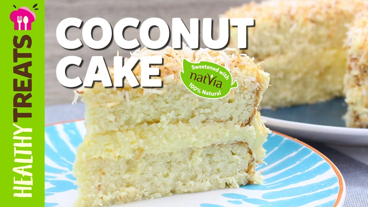 healthy sugar free coconut cake recipe natvia u0027s healthy treats