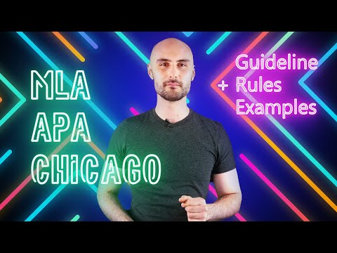APA Appendix Guidelines | Rules For MLA Format, Chicago Style