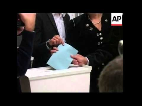 Alliance for the Future of Austria leader, Joerg Haider votes