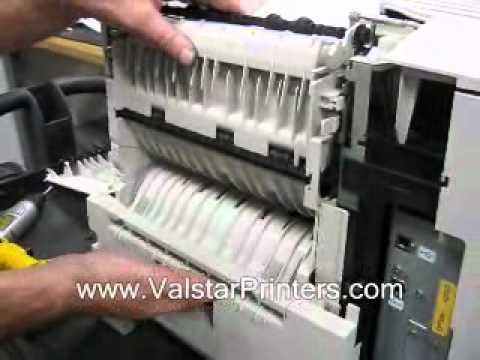 Lexmark T630 T632 T634 Paper Jam - Open Rear Door.wmv
