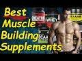 Best Muscle Building Supplements | Best supplements for MUSCLE GAIN | Muscle GROWTH Supplements