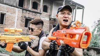 LTT Game Nerf War : Warriors SEAL X Nerf Guns Fight Criminal Group Braum Crazy Transport Car Robbers