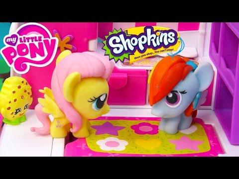 MLP Fash'ems Rainbow Dash Fluttershy Shopkins ROAD TRIP RV Camper My Little Pony Video Series Part 4