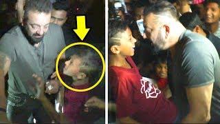 Sanjay Dutt's Little FAN Begs To HUG Him - What Sanjay Does Next Will Melt Your Heart