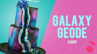 Galaxy Geode Cake Tutorial | How To | Cherry School