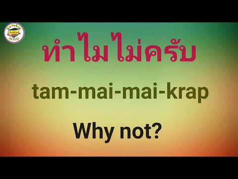 Learn Thai Daily Used Conversation, Thai English Lessons