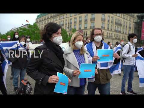 "Germany: ""Free Gaza from Hamas""- dozens rally in support of Israel in Berlin"