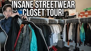 MY INSANE STREETWEAR CLOSET TOUR!