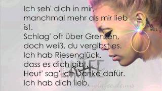"LaFee - ""Ich hab dich lieb"" [Instrumental/Karaoke Version] with Lyrics"